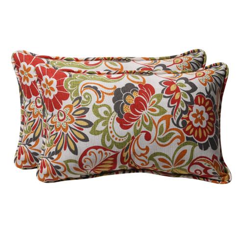 Pillow Perfect Zoe Multicolor Rectangle Throw Pillow (Set of 2)