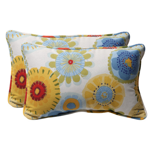 Pillow Perfect Crosby White Rectangle Throw Pillow (Set of 2)