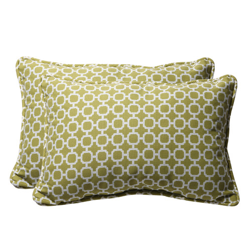 Pillow Perfect Hockley Green Oversized Rectangle Throw Pillow (Set of 2)