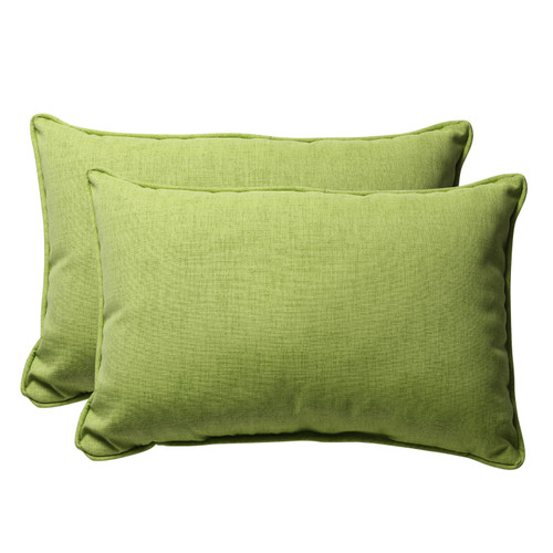 Pillow Perfect Baja Lime Green Oversized Rectangle Throw Pillow (Set of 2)