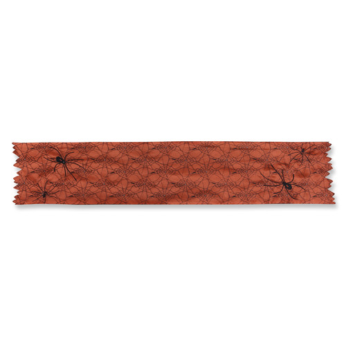 Pillow Perfect Spider Orange 72-inch Table Runner