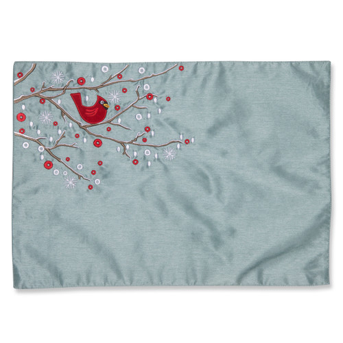 Pillow Perfect Holiday Cardinal on Snowy Branch Placemat (Set of 2)