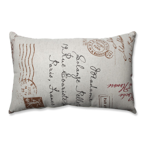 Pillow Perfect French Postale Rectangle Throw Pillow