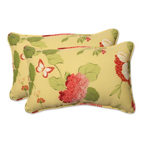 Pillow Perfect Risa Lemonade Rectangle Throw Pillow (Set of 2)