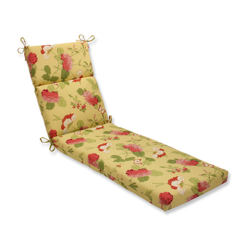 Pillow Perfect Risa Lemonade Chaise Lounge Cushion