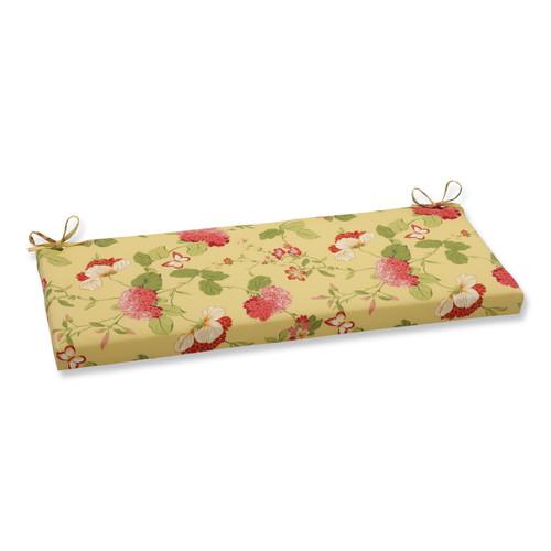 Pillow Perfect Risa Lemonade Bench Cushion