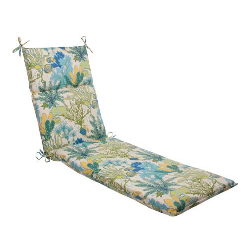 Pillow Perfect Splish Splash Blue Chaise Lounge Cushion