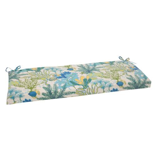 Pillow Perfect Splish Splash Blue Bench Cushion