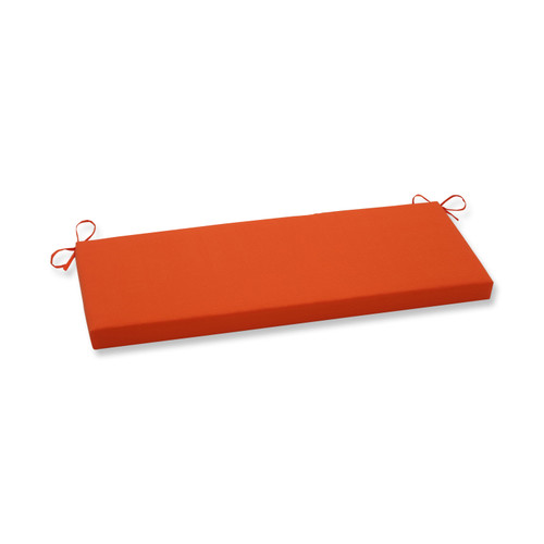 Pillow Perfect Sundeck Orange Bench Cushion