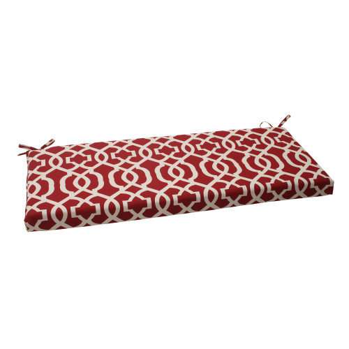 Pillow Perfect New Geo Red Bench Cushion