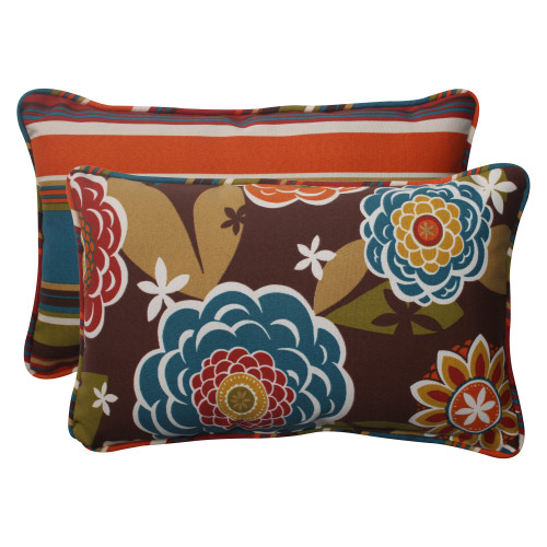 Pillow Perfect Annie|Westport Reversible Rectangle Throw Pillow (Set of 2)