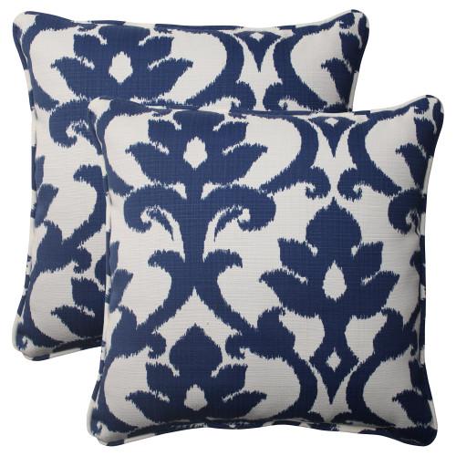 Pillow Perfect Bosco Navy 18.5-Inch Throw Pillow (Set of 2)
