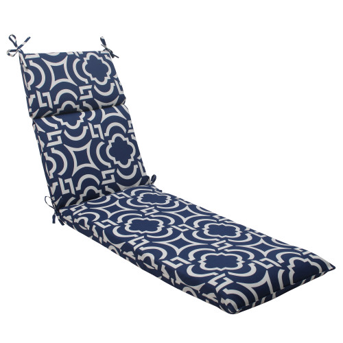 Pillow Perfect Carmody Navy Chaise Lounge Cushion