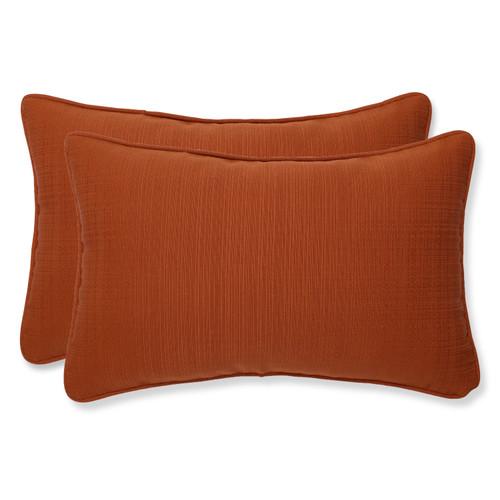 Pillow Perfect Cinnabar Burnt Orange Rectangle Throw Pillow (Set of 2)
