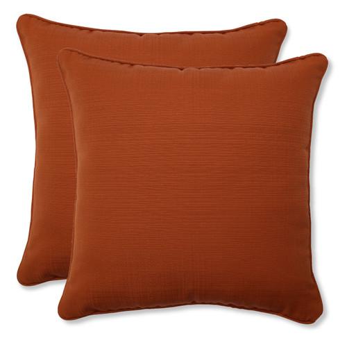 Pillow Perfect Cinnabar Burnt Orange 18.5-Inch Throw Pillow (Set of 2)