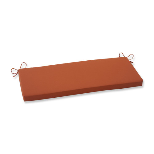 Pillow Perfect Cinnabar Burnt Orange Bench Cushion