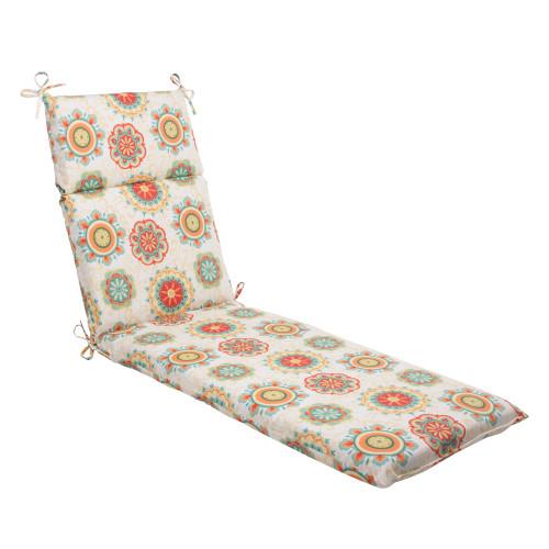 Pillow Perfect Farrington Aqua Chaise Lounge Cushion