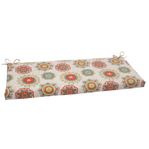 Pillow Perfect Farrington Aqua Bench Cushion