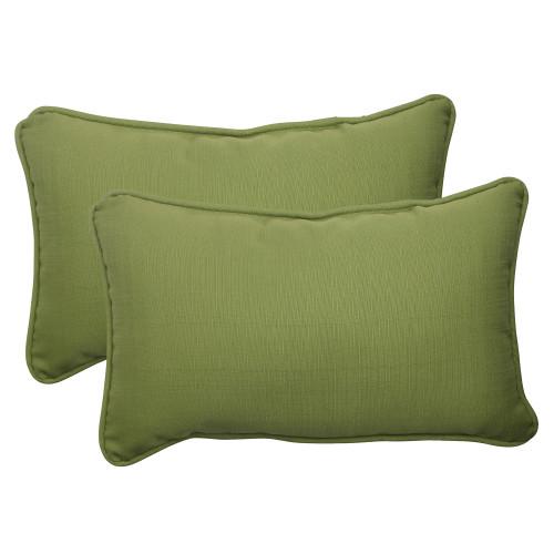 Pillow Perfect Forsyth Green Rectangle Throw Pillow (Set of 2)