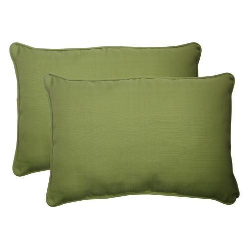 Pillow Perfect Forsyth Green Oversized Rectangle Throw Pillow (Set of 2)