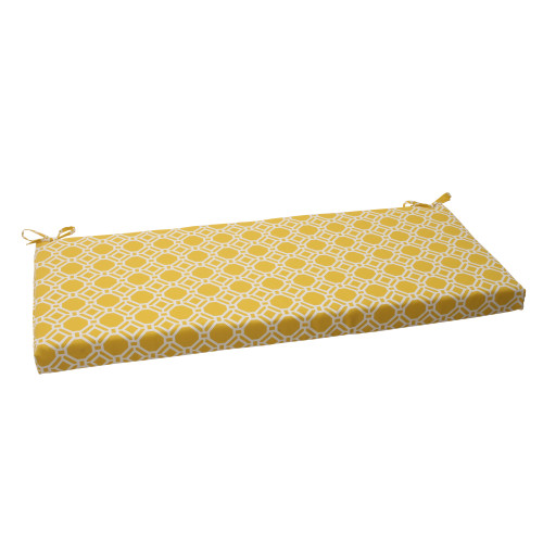 Pillow Perfect Rossmere Yellow Bench Cushion