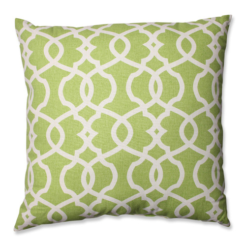 Pillow Perfect Lattice Damask Leaf 24.5-inch Floor Pillow