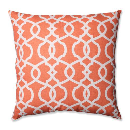 Pillow Perfect Lattice Damask Tangerine 24.5-inch Floor Pillow