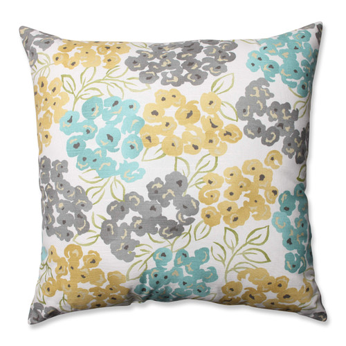 Pillow Perfect Luxury Floral Pool 24.5-inch Floor Pillow