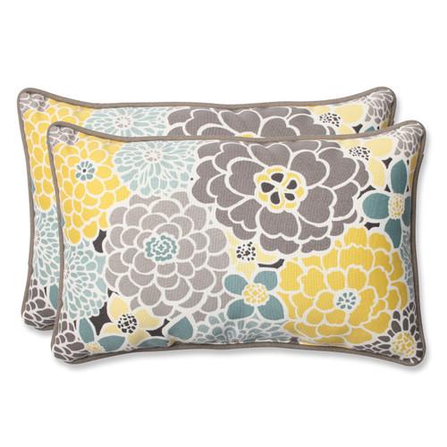 Pillow Perfect Full Bloom Rectangular Throw Pillow (Set of 2)