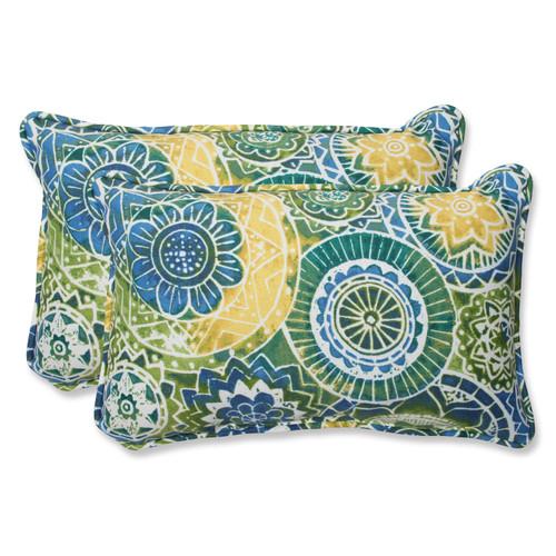 Pillow Perfect Omnia Lagoon Rectangular Throw Pillow (Set of 2)
