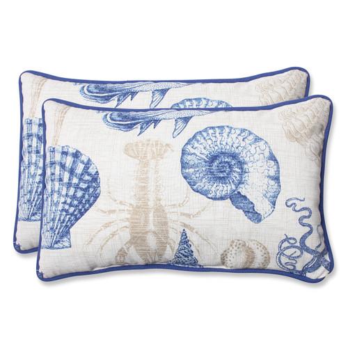 Pillow Perfect Sealife Marine Rectangular Throw Pillow (Set of 2)