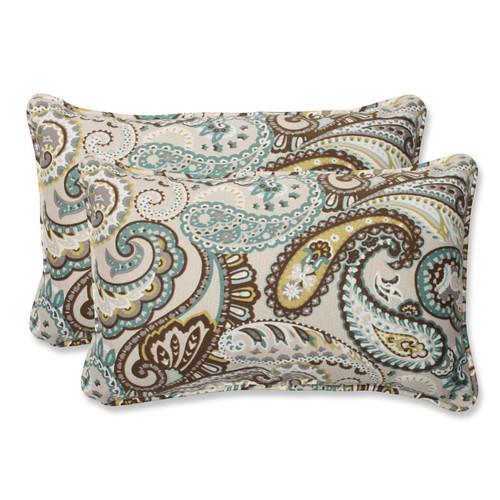 Pillow Perfect Tamara Paisley Quartz Rectangular Throw Pillow (Set of 2)