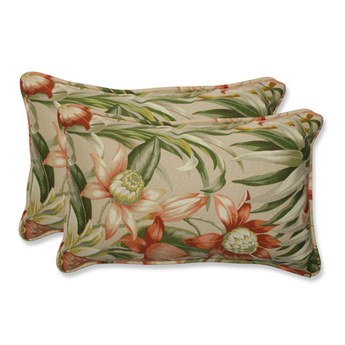 Pillow Perfect Botanical Glow Tiger Stripe Rectangular Throw Pillow (Set of 2)