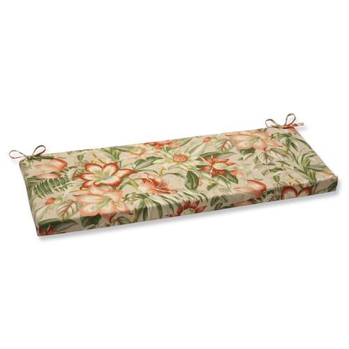 Pillow Perfect Botanical Glow Tiger Stripe Bench Cushion