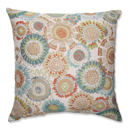 Pillow Perfect Maggie Mae Aqua 24.5-inch Floor Pillow
