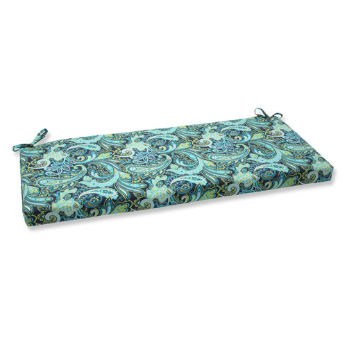 Pillow Perfect Pretty Paisley Navy Bench Cushion