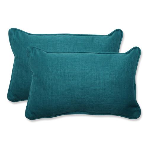 Pillow Perfect Rave Teal Rectangular Throw Pillow (Set of 2)