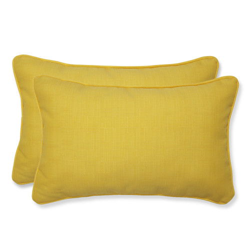 Pillow Perfect Fresco Yellow Rectangular Throw Pillow (Set of 2)
