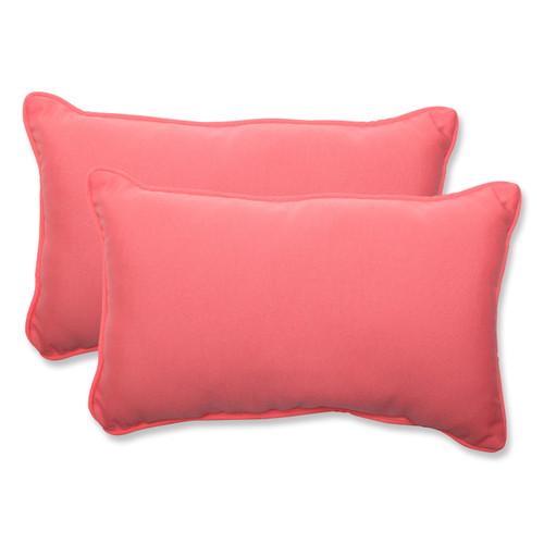 Pillow Perfect Fresco Melon Rectangular Throw Pillow (Set of 2)