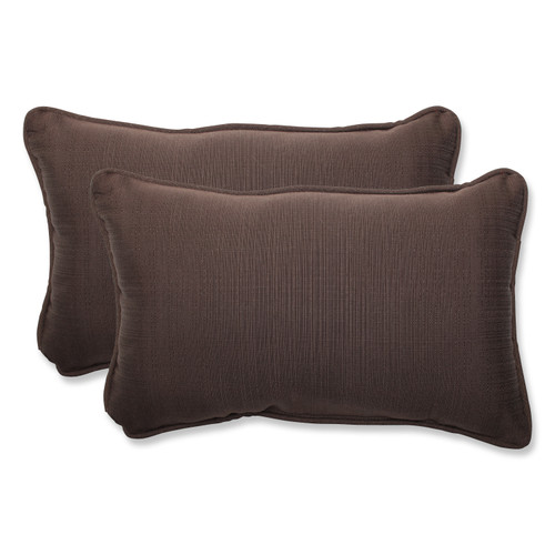 Pillow Perfect Forsyth Chocolate Rectangular Throw Pillow (Set of 2)