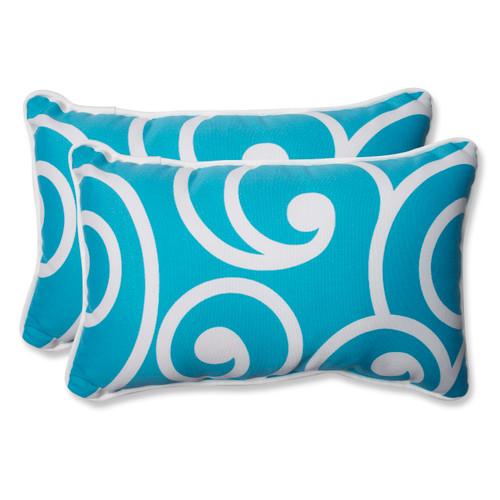 Pillow Perfect Best Turquoise Rectangular Throw Pillow (Set of 2)