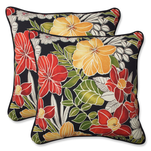 Pillow Perfect Clemens Noir 18.5-inch Throw Pillow (Set of 2)