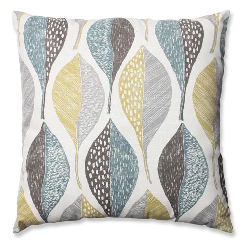 Pillow Perfect Woodblock Leaf Rain 24.5-inch Floor Pillow