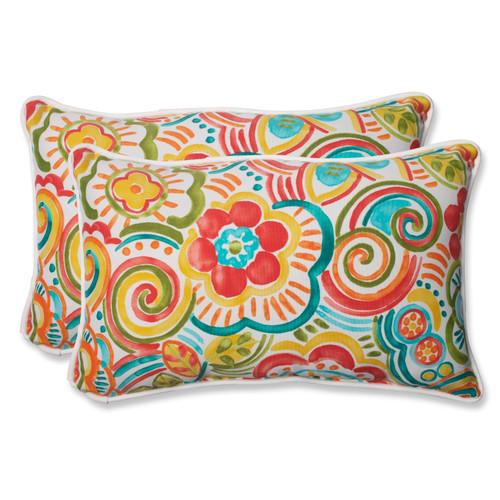 Pillow Perfect Bronwood Carnival Rectangular Throw Pillow (Set of 2)
