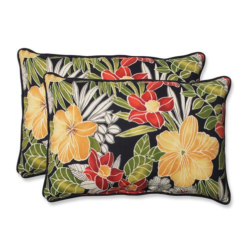 Pillow Perfect Clemens Noir Over-sized Rectangular Throw Pillow (Set of 2)