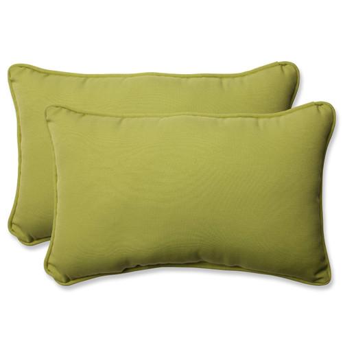 Pillow Perfect Fresco Pear Rectangular Throw Pillow (Set of 2)