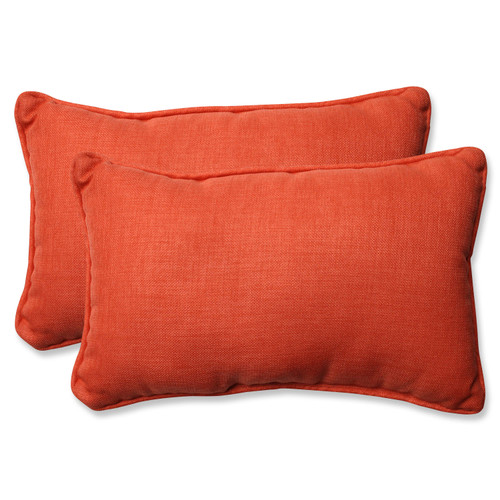 Pillow Perfect Rave Coral Rectangular Throw Pillow (Set of 2)