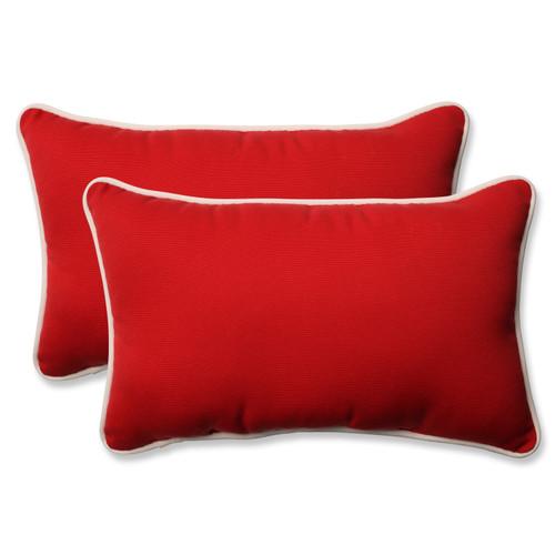 Pillow Perfect Americana Red Rectangular Throw Pillow (Set of 2)