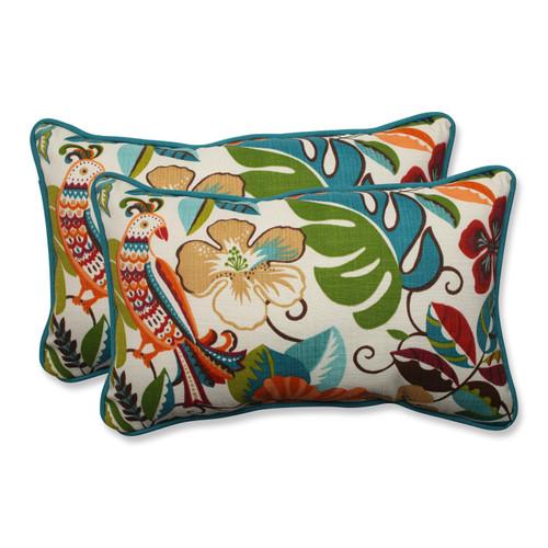 Pillow Perfect Lensing Jungle Rectangular Throw Pillow (Set of 2)