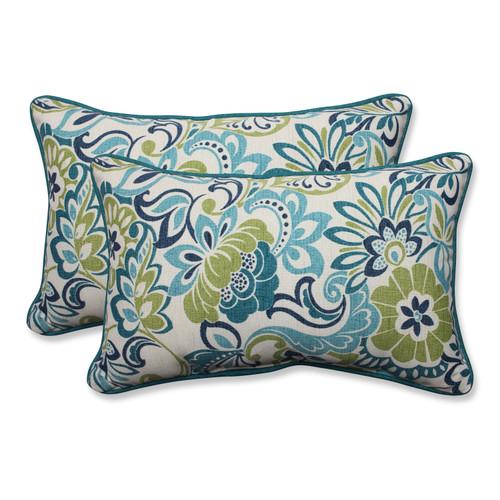 Pillow Perfect Zoe Mallard Rectangular Throw Pillow (Set of 2)